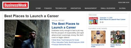 Business Week: Best Place to Launch a Career