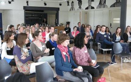De deelnemers van het seminar