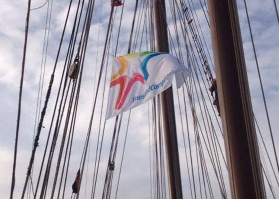 Team FrieslandCampina ROTCYP Careerwise Vlag
