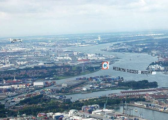 Team Heerema ROTCYP Vliegtuig steun komt te laat