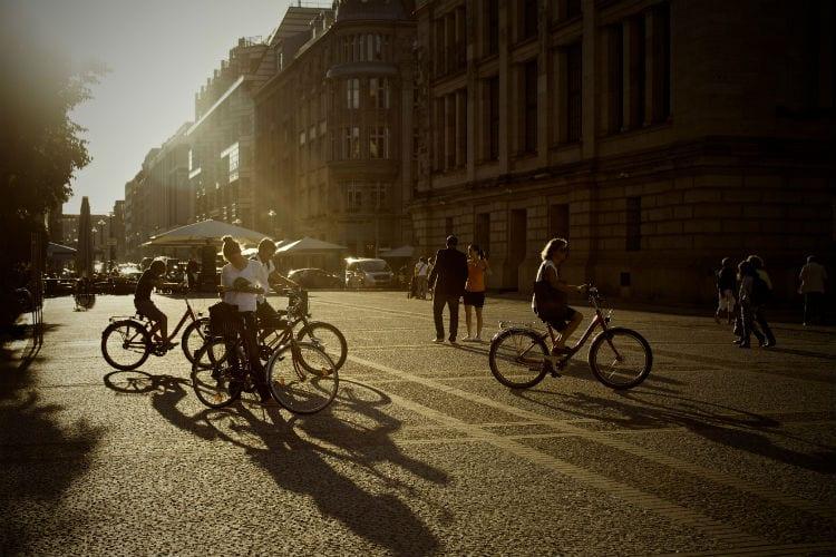 zomergeluk fietsen naar je werk
