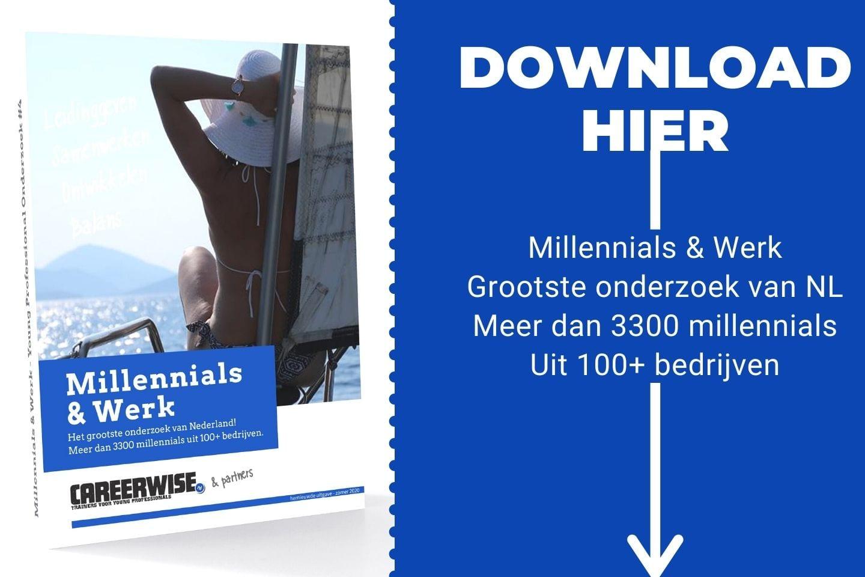 Millennials & Werk - Careerwise whitepaper op basis van Young Professional Onderzoek - download gratis - Download hier