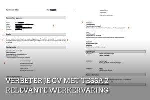 CV-check expert Tessa relevante werkervaring