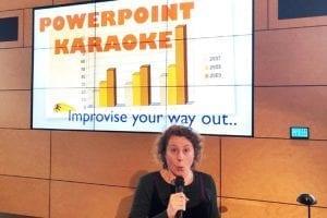 Powerpoint Karaoke - Leren presenteren voor millennials - presentatietraining Marieke van Laar - Careerwise - workshop