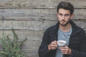Heb je nog vragen - sollicitatieserie - by Burst - adult-beard-black-jacket-cup-373899