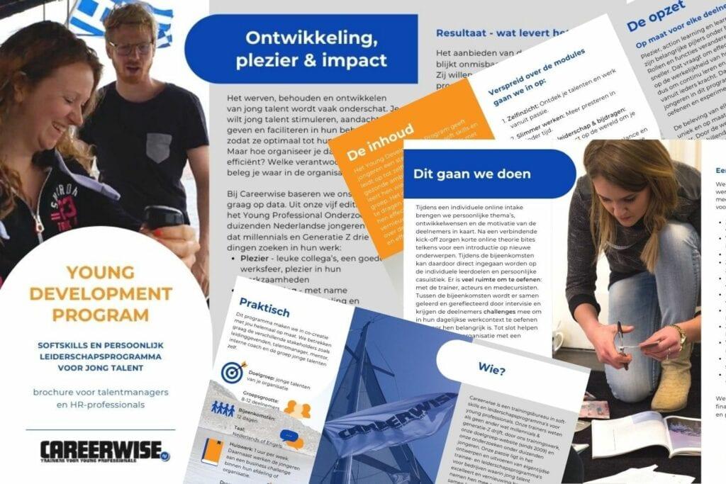 Brochure Careerwise Young Development Programma - traineeship - leiderschapsprogramma - millennials - talentontwikkeling