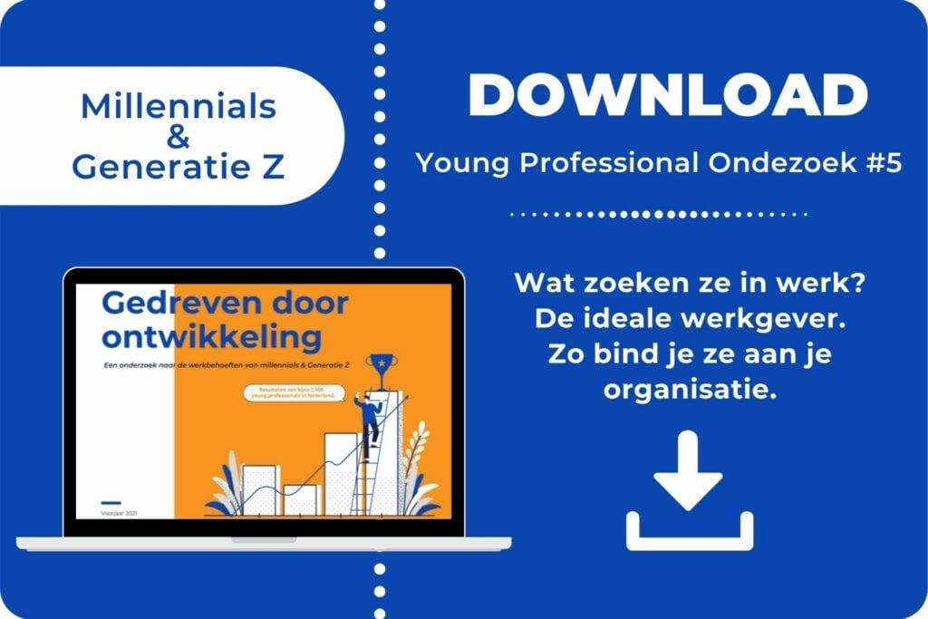 Onderzoek over Millennials Generatie Z en werk - download de whitepaper ©Careerwise 2021 - 2